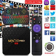 2019 MX10PRO Android 8.1.0 Smart TV BOX Colorful H9 Quad Core 4K 3D Media 2+16G