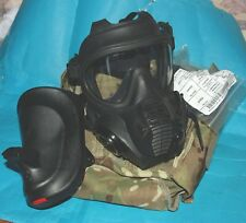 BRITISH ARMY GSR GAS MASK SIZE 2: TWO NEW & SEALED FILTERS & GOOD HAVERSACK. B: