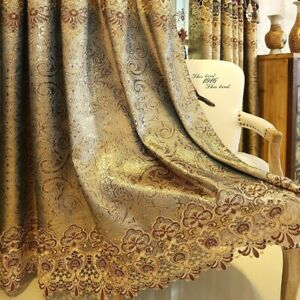 European Embroidery Curtain Fabric Water-soluble Window Drape Semi-finished Home