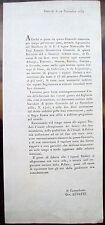 1833 PINEROLO CIRCOLARE SU LICENZE TRATTORIE, OSTERIE E GIOCO DEL BIGLIARDO