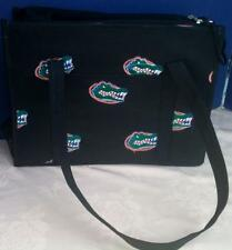 UF~FLORIDA GATORS~SMALL DOG PET CARRIER PURSE/TOTE~BLACK~LOGO EMBROIDERY~VGUC