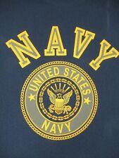 Vintage Stati Uniti Navy - Riflettente Grigio - XL - Blu Navy T-Shirt - B1369