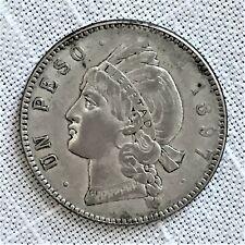 1897 A Dominican Republic Peso Coin, KM# 16, Silver, One Year Type, RARE!