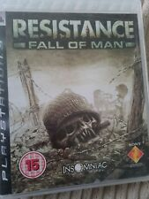 RESISTANCE FALL OF MAN PS3 GAME WITH MANUALS