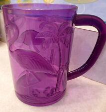Purple FLAMINGO MUG Florida Party Goblet Plastic Glass Pool Friendly Luau