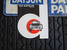 Datsun 63 Cedric Brochure