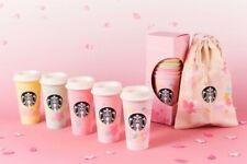 JAPAN Starbucks Coffee SAKURA2020 Reusable Cup 473ml Set & Bag Limited F/S PSL