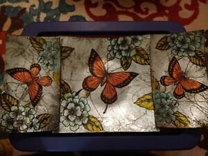 Butterfly Plates - Set of 3