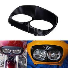 Matt Black Headlight Bezel Scowl Outer Fairing Cover F Harley Road Glide Custom