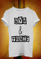Gym And Tonic Funny Cool Novelty Men Women Unisex T Shirt Tank Top Vest 1180