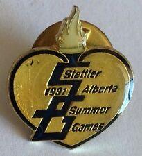 Stettler 1991 Alberta Summer Games Pin Badge Sports Collectable (E5)