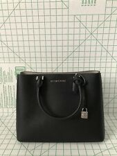 Michael Kors Handbag Adele Large Mercer Messenger Pebbled Leather Purse Black