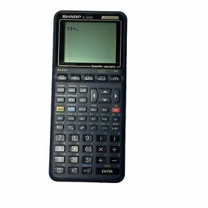 Sharp EL-9300 Graphing Calculator w Cover Tested Working