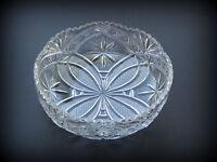 """Georgeous ~ VINTAGE CUT GLASS SERVING BOWL ~ 9 1/4"""" DIAMETER X 3"""" DEEP"""