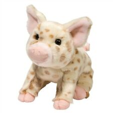 "NWT Douglas Mud Pie BROWN SPOT PIG 10"" Toy Pig Stuffed Spotted Piglet Plush Pig"