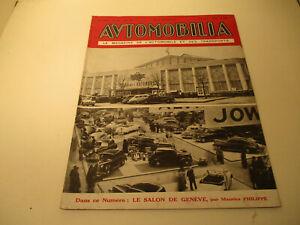 REVUE AUTOMOBILIA - N° 491 Mai 1947 Salon de Genèvre
