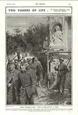 1916 German Prisoners French Soldier Sculptor At Work Joan Of Arc