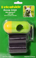 30 DOG PET WASTE POOP Bags in Rolls with Free DISPENSERS