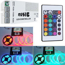 DC12-24V 24 Key RGB LED Strips Music Sound 3 Channel IR Remote Controller Dimmer