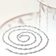 NEW Fashionable Pure Solid 925 Sterling Silver Singapore Rope Chain Necklace UP