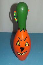 """Pumpkin Halloween Bowling pin regulation size 15"""" tall by Sam"""