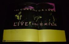 CHROME CRANKS LIVE IN EXILE POSTER ROCK GARAGE NOISE AUGOGO NO RECORD