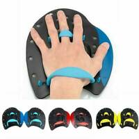 Kid Adult Swim Swimming Contour Silicone Hand Paddles Training Workout Pool Aid
