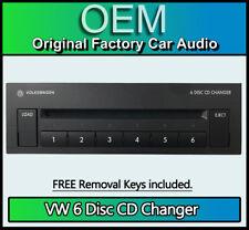 VW Golf MK5 6 Disc CD Changer, Volkswagon Armrest 6CD player with removal keys