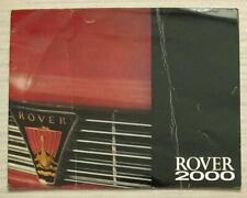 ROVER 2000 SC & TC Car Sales Brochure 1966 #688/B