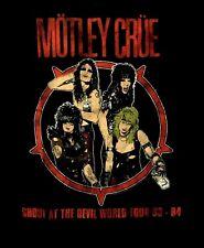 MOTLEY CRUE cd lgo SHOUT AT THE DEVIL WORLD TOUR '83-'84 Official SHIRT MED new