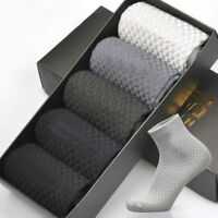 1 pairs Men Bamboo Fiber Socks Business Anti-Bacterial Deodorant Breathable Sock