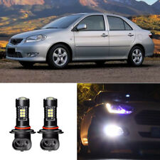2x Canbus H3 3030 21SMD LED DRL Daytime Running Fog Lights Bulbs For Toyota Vios