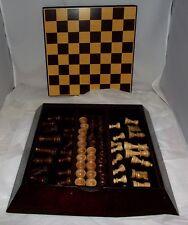 Bombay Company Wood Chess & Checkers Set w/ Box Case & Board Complete!