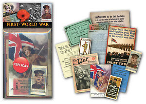 World War One Memorabilia Pack with over 20 pieces of Replica Artwork