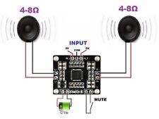 MINI AMPLIFICATORE DIGITALE 15 + 15W 12V CLASSE D MODULO PAM8610