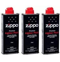 Zippo 3X125ml Tin Petrol Lighter Fluid Zippo Lighter Hand Warmer Fuel Household