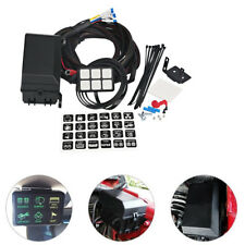 Car Auto Marine 6 Switch Panel Relay Control Box+Wiring Harness Waterproof 12V