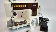 White 3800 Sewing Embroidery Machine Portable Serviced