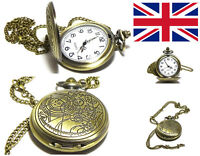 Formal gents pocket fob watch Dr. Doctor Who themed working  prop dress up UK