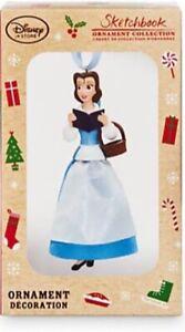 Disney Store Sketchbook Belle Limited Xmas Decoration 2016 Ornament LE 3000 BNIB