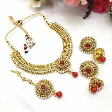 New Indian Bridal Jewellery Bollywood Asian Ethnic Wear Polki Necklace Set