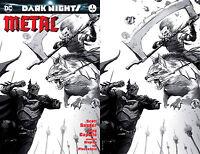 Dark Nights Metal 1 Francesco Mattina Sketch Virgin Set 2 Variant Batman Joker
