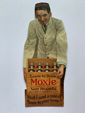 1930's Moxie Cardboard Advertising Store Counter Sign