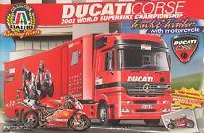 Italeri Ducati Corse 2002 World Superbike Championship Truck & Trailer Ref 3815