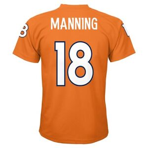 Peyton Manning NFL Denver Broncos Player Replica Orange Jersey Tee Boys (4-7)