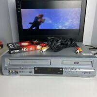 Sansui VRDVD4000B DVD Player VCR Combo 4 Head Hi-Fi Stereo VHS Recorder - Tested