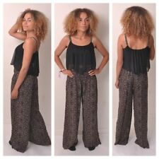 Flared Cotton Blend Harem High Trousers for Women