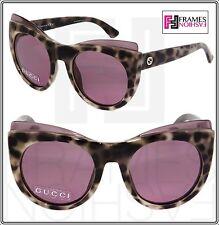 GUCCI GG3781S Cat Eye White Havana Sunglasses Pink Mirror 3781 Optyl