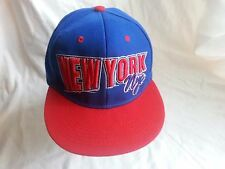 NEW YORK/NYC BASEBALL CAP/HAT SNAP BACK-EMBROIDERED LETTERING/BLUE-RED-UNUSED