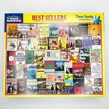 Vintage White Mountain Puzzles BEST SELLER Book Cover 1000 Piece Jigsaw Puzzle